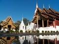 Wat phra singh woramahaviharn at chiangmai thailand Stock Image