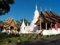 Wat phra singh woramahaviharn at chiangmai thailand Royalty Free Stock Photography