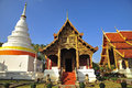 Wat Phra Singha, Thai lanna temple at Chiangmai province Thailan Stock Photo