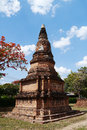 Wat phra sri ratana mahathat thailand pagoda ancient in ayutthaya period Royalty Free Stock Photos