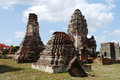 Wat phra sri ratana mahathat thailand pagoda ancient in ayutthaya period Stock Photo