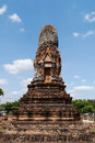 Wat phra sri ratana mahathat thailand pagoda ancient in ayutthaya period Stock Photography