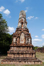 Wat phra sri ratana mahathat thailand pagoda ancient in ayutthaya period Royalty Free Stock Photography