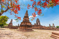 Wat phra sri rattana mahathat historical park in lopburi thailand Royalty Free Stock Photos