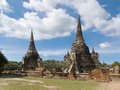 Wat phra sri sanphet ancient temle in ayutthaya Royalty Free Stock Photos
