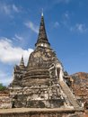 Wat phra sri sanphet ancient temle in ayutthaya Royalty Free Stock Photo