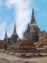 Wat phra sri sanphet ancient temle in ayutthaya Royalty Free Stock Images