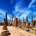 Wat phra sri sanphet temple ayutthaya thailand asian religious architecture ancient pagoda at under blue sky Stock Photography
