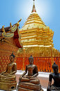 Wat Phrathat Doi Suthep temple Stock Image