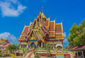 Wat plai laem temple koh samui thailand is a buddhist compound on s north east coast of Stock Images