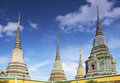 Wat po bangkok thailand temple of in Stock Photo