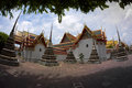 Wat po the temple of thailand pagoda bangkok Stock Images