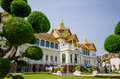 Wat pra kaew grand palace bangkok thailand with clear blue sky Stock Photography