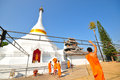 Wat prathad doi gong moo white pagoda in maehongson thailand Stock Photography