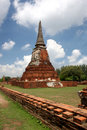 Wat Prha Mahathat Temple in Ayutthaya Stock Images