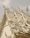 Wat Rhong Khun with Thai Stucco Stock Image