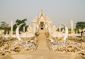 Wat rong khun one of the famous temple in chiang rai thailand Stock Photo