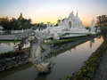 Wat rong khun popularly known as the white temple in chiang rai thailand stunning also at sunset northern Royalty Free Stock Images
