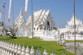 Wat rong khun temple or chiangrai thailand Royalty Free Stock Photos