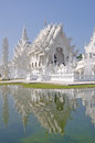 Wat rong khun temple or chiangrai thailand Stock Photography