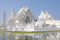 Wat rong khun temple or chiangrai thailand Stock Photo