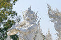 Wat rong khun temple or chiangrai thailand Stock Photos