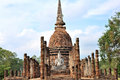 Wat sa si sukhothai historical park which covers ruins old city sukhothai thailand park was declared unesco world heritage site Royalty Free Stock Photos
