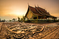 Wat Sirindhornwararam, beautiful Buddhist temple for tourism in Royalty Free Stock Photo