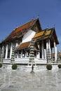 Wat suthat buddhist temple bangkok thailand Stock Photo