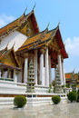 Wat suthat temple in bangkok thep wararam thailand Royalty Free Stock Photography