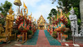 Wat Thai entrance having beautiful art decorations Stock Image