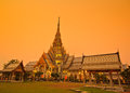 Wat so thorn temple in the evening chachoengsao province of thailand Royalty Free Stock Photography