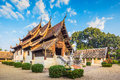 Wat ton kain landscape shot temple old wooden temple in chiang mai thailand they are public domain or treasure of buddhism no Royalty Free Stock Photo