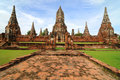 Wat Wattanaram, Ayutthaya, Thailand Royalty Free Stock Photos