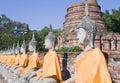 Wat Yai Chai Mongkol Royalty Free Stock Photo