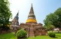 Wat Yai Chai Mongkol- Thailand Stock Photography