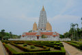 Wat yan nasangwararam buddhist temple Photos stock