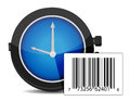 Watch and barcode Stock Photo
