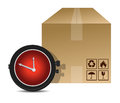 Watch and box shipping Royalty Free Stock Photography