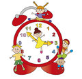 Watch with children illustration of happy Stock Image