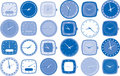 Watch or clock faces vector Stock Photos