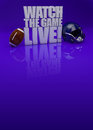 Watch the game live d text american football background with space Royalty Free Stock Images