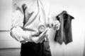 Watch groom hand