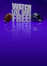 Watch live game d text american football background free with space Royalty Free Stock Image