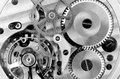 Watch parts: gears and spring Royalty Free Stock Photo