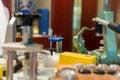Watch repair desk in a shop Stock Photos