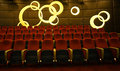 Watch seats comfortable seating is theater viewers to enjoy warm and comfortable place Stock Image