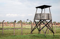 Watch tower auschwitz birkenau concentration camp Royalty Free Stock Photography