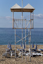 Watch tower on the beach in alanya turkey Stock Photos