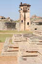 Watch tower of royal fort zenana enclosure at hampi on india Royalty Free Stock Photo